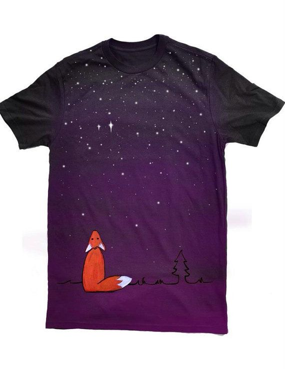 A cute fox gazing at the stars. Reminds me of Sadie when she just observes the world at night