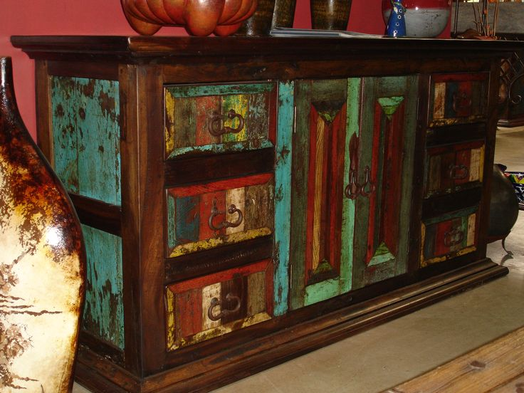 11 Best Images About Mexican Furniture Repurposed From Antique Mexican Doors On Pinterest