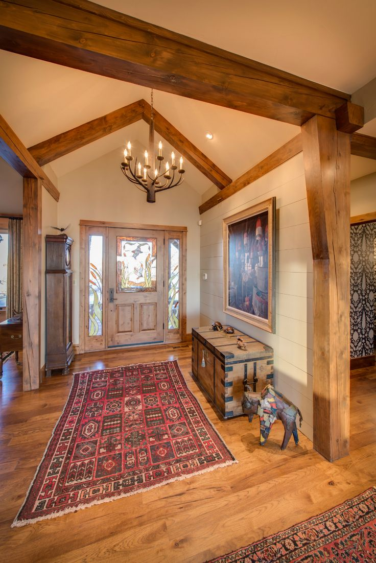 1000 images about timber frame interiors on pinterest for Timber frame home interiors