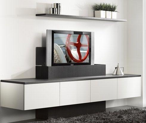 Gaaf tv-meubel met verborgen tv
