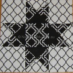 Make an Ohio Star Quilt Block from Charm Squares