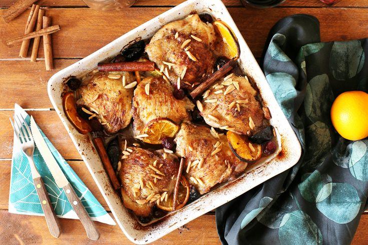 Perfekt fűszeres gyümölcsös csirkecombok