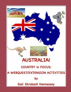 1/26 is Australia Day! Learn about the country with this web quest. My Country in Focus series, highlights a country with a web quest, some fun facts,map skill and extension activities. Great for a one day activity before a vacation,end of year activity,enrichment or for a substitute activity. I also have a Country in Focus on Switzerland,India ,China, Greece, Russia,Brazil and Iceland.