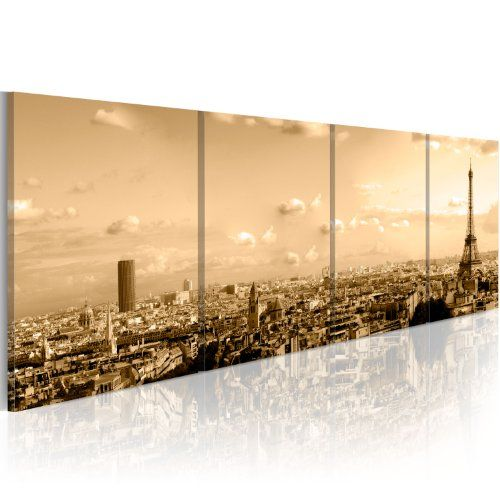 grand format impression sur toile images 4 parties ville paris tableau 030219 2. Black Bedroom Furniture Sets. Home Design Ideas
