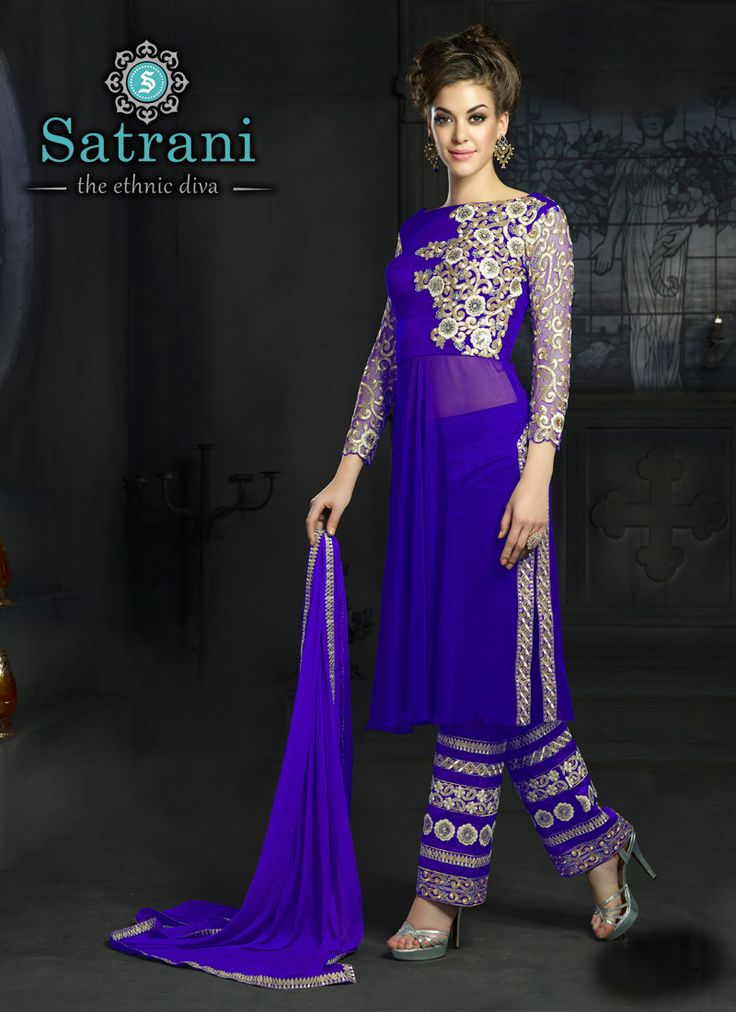 Bedazzling Gown For Ethnic Collection(235D)  Please visit below link http://www.satrani.com/salwar-suits&catalog=587  For more queries,  email id: inquiry@satrani.com Contact no.: 09737746888(whats app available)