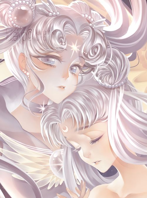Sailor Cosmos and Serenity by Luleiya - Sailor Moon fanart