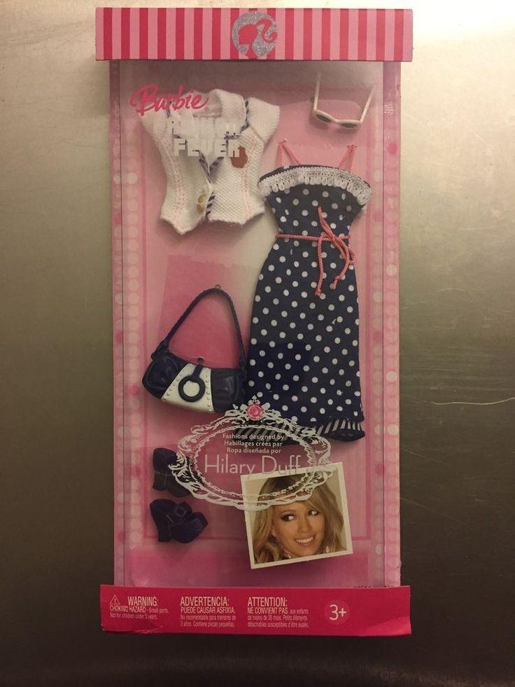NRFB Barbie Fashion Fever 2006 Designed by Hilary Duff - Blue Polka Dot Dress #Mattel #DollClothingAccessories
