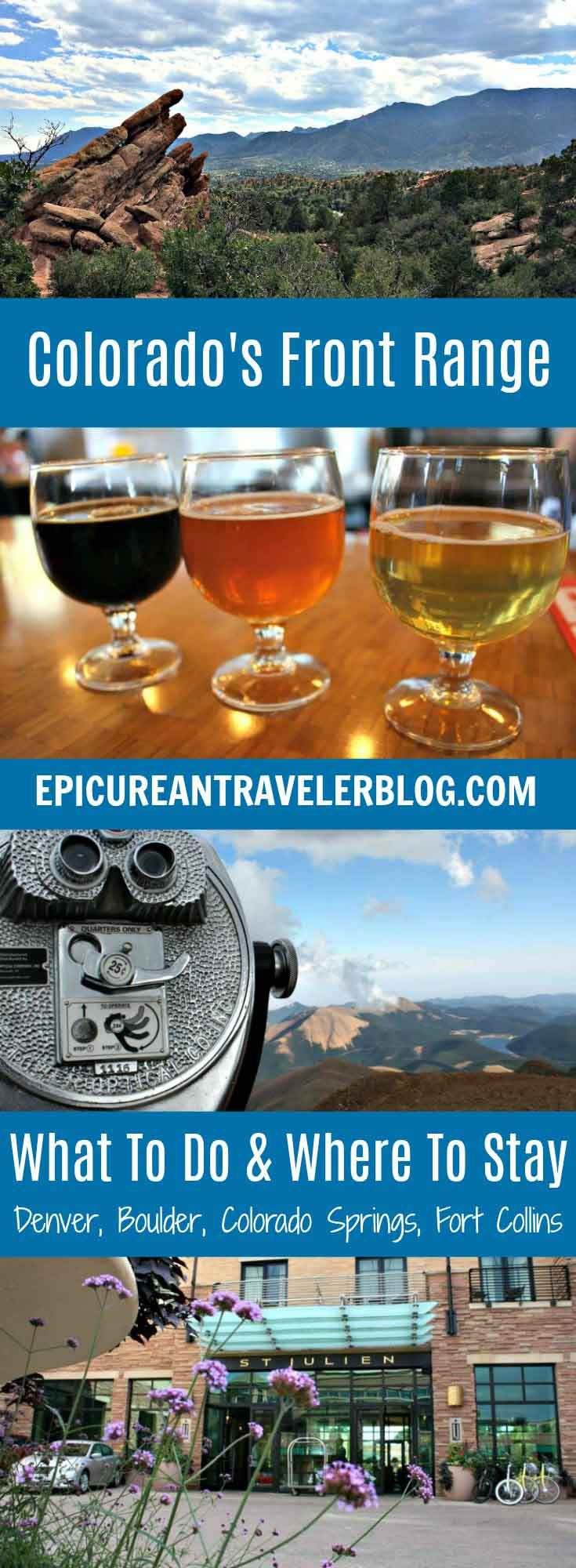 Visiting Colorado? Start your trip along the Front Range in Denver, Boulder, Colorado Springs, or Fort Collins. Each of these cities is great for foodies, beer lovers, and outdoor enthusiasts. Check out the post for tips about what to do, where to eat and drink, and where to stay! Get your Colorado travel tips today at EpicureanTravelerBlog.com!