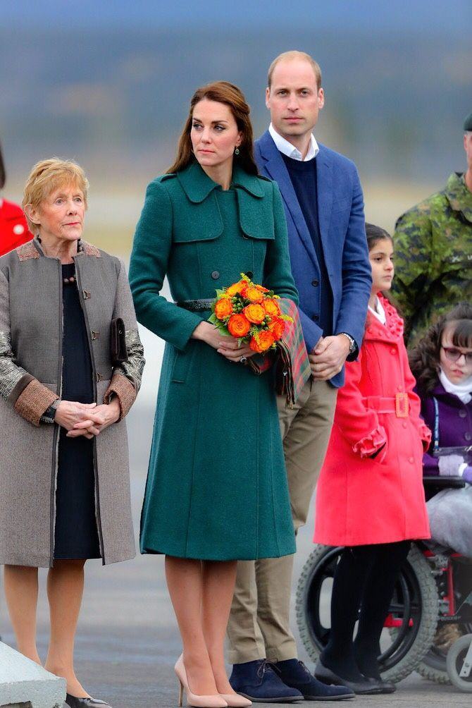"""The Duke and Duchess of Cambridge arrive in Whitehorse during their tour of Canada // September 27, 2016 """