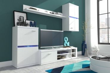 599 PLN Zestaw Mebli do Salonu Inside od #internumpolska / Wall Unit Inside with LED option