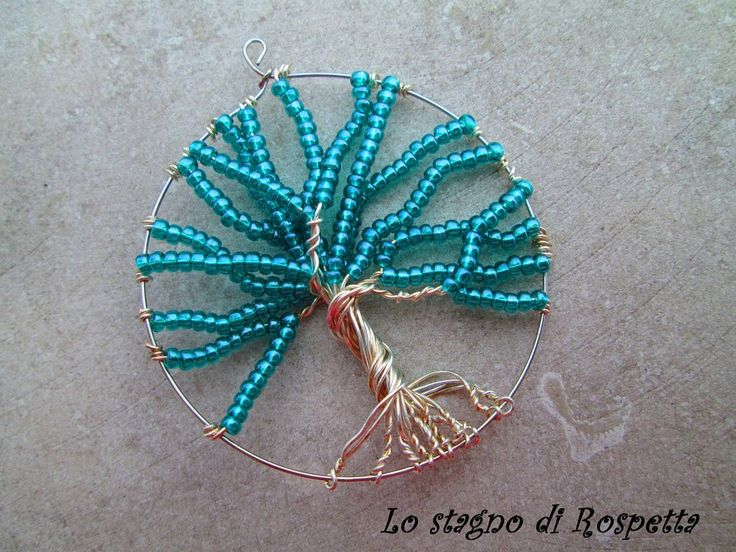 Pendente turquoise tree of life , by Lo stagno di Rospetta, 4,00€ su misshobby.com