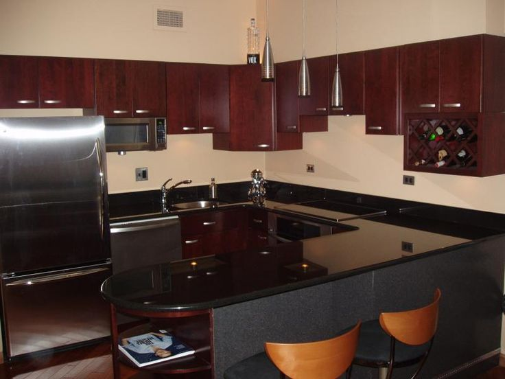 cherry wood kitchen cabinets with black granite 34 best images about kitchen paint colors on 9804