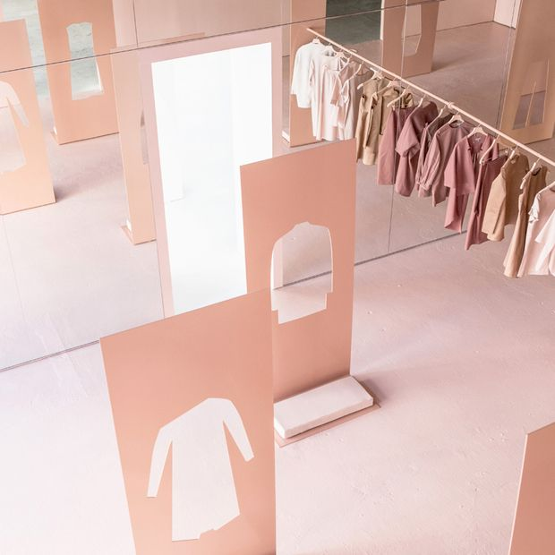 COS + Snarkitecture's LA Pop-Up Shop: A temporary retail experience, inspired by the AW15 collection, plays with reflections and tones