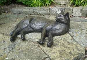 Cat Memorials Bronze Cat Statues for my corn in my garden. Where my cat used to hang out