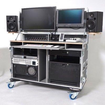 Mobile 4K Ultra Studio video editing suite in flightcase