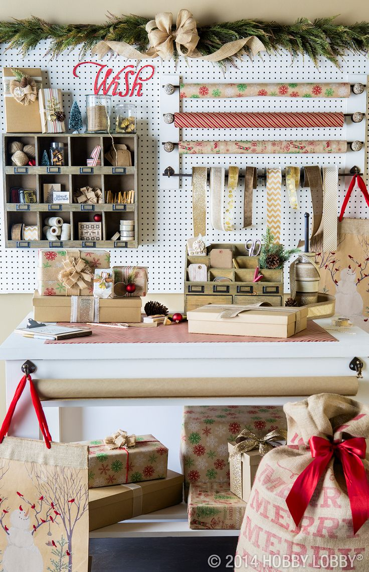 This wrapping paper station will make the North Pole jealous!