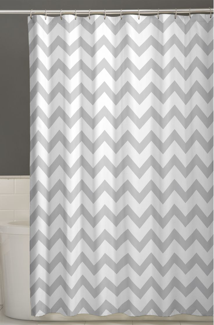 Mint green shower curtain and rugs - Chevron Shower Curtain