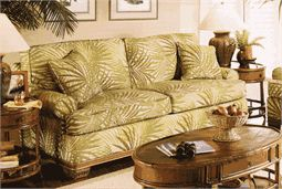 tropical sofa   Capri upholstered queen sleeper sofa has a casual, tropical style and ...