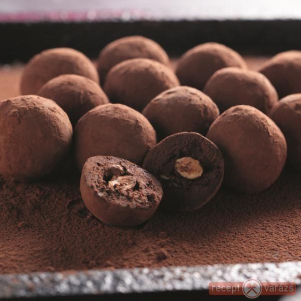 Csokis-mogyorós golyó - trüffel
