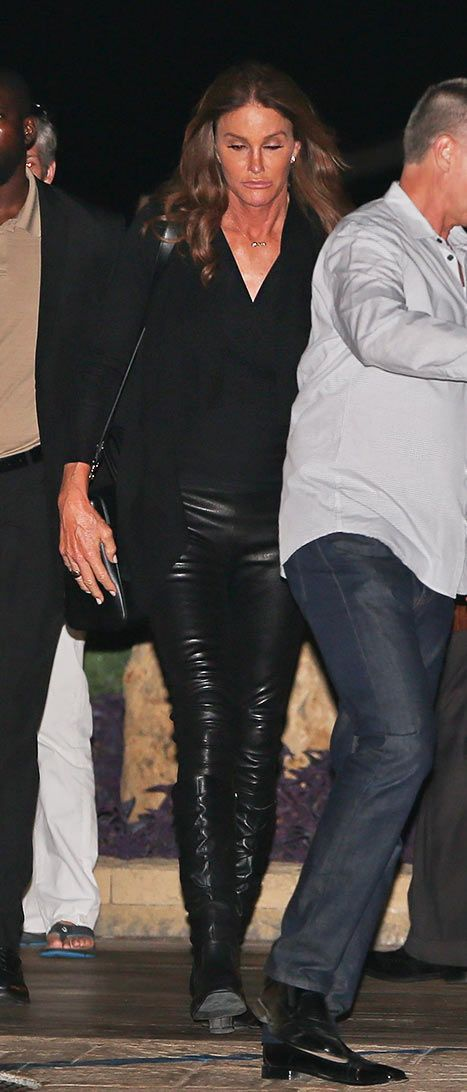 Caitlyn Jenner Rocks Tight Leather Pants, Knee-High Boots: Photo - Us Weekly