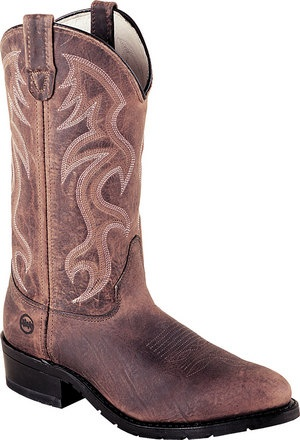Men's Double H Boot 12 Inch AG7 Work Western - Brown