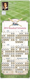 Twins Baseball Schedule - MagnetCards