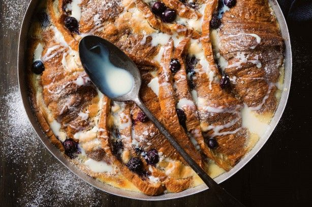 Matt Preston and Michelle Southan have put a delectable twist on bread and butter pudding with luxe croissants and white chocolate.