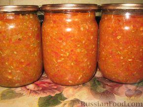 Аджика из кабачков на зиму - Кабачки 3 кг -  Морковь 500 г - Перец сладкий 500 г - Чеснок 5 головок - Помидоры 1,5 кг - Красный перец молотый 2,5 ст.л. - Сахар 100 г - Соль 2 ст.л. - Масло растительное 200 г