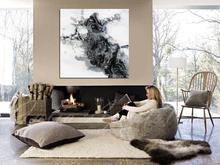 45x45inch, Black and White Watercolour Painting, Abstract Print, Large Wall Art, Canvas Art Abstract, #Black #White #Print, #Rustic #Modern #Decor by #JuliaApostolova on #Etsy #homedecor #coastaldecor #blackandwhite #canvasprint #interior #bedroom #designer #interiordesigner #decor #interiordesign #minimal #modern #contemporary #blackwhite