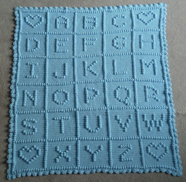 Crochet Pattern For Abc Baby Blanket : Ravelry: Project Gallery for ABC Bobble Blanket pattern by ...