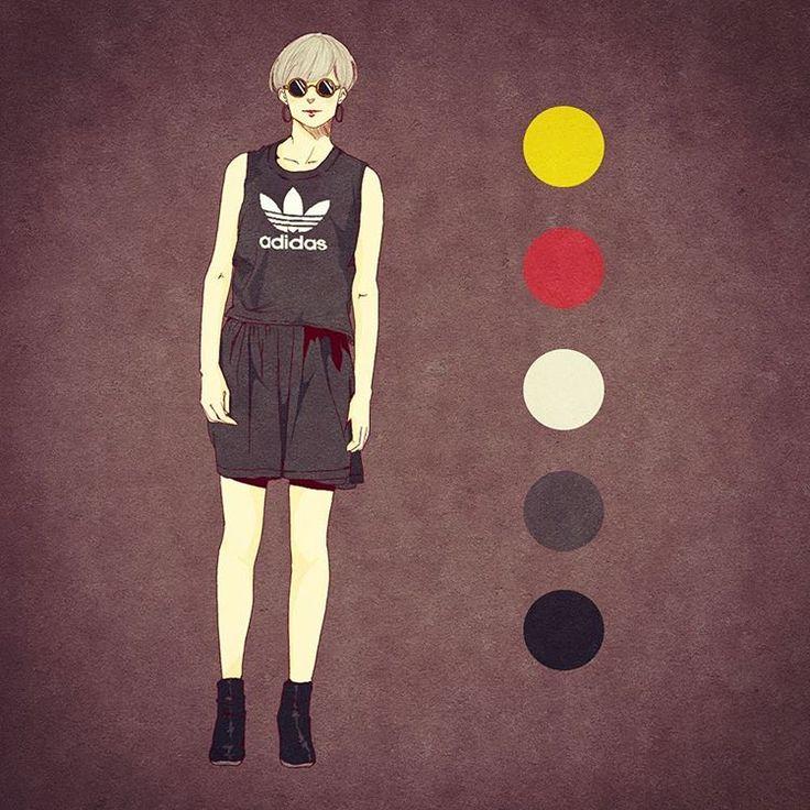 """187 Likes, 12 Comments - てっぺー (@mateppe) on Instagram: """"サラッと着こなしていくスタイル。 ーーーーーーーーーーーーーーーーーーーー #illustration  #fashion #fashionillustration #fashiondrawing…"""""""