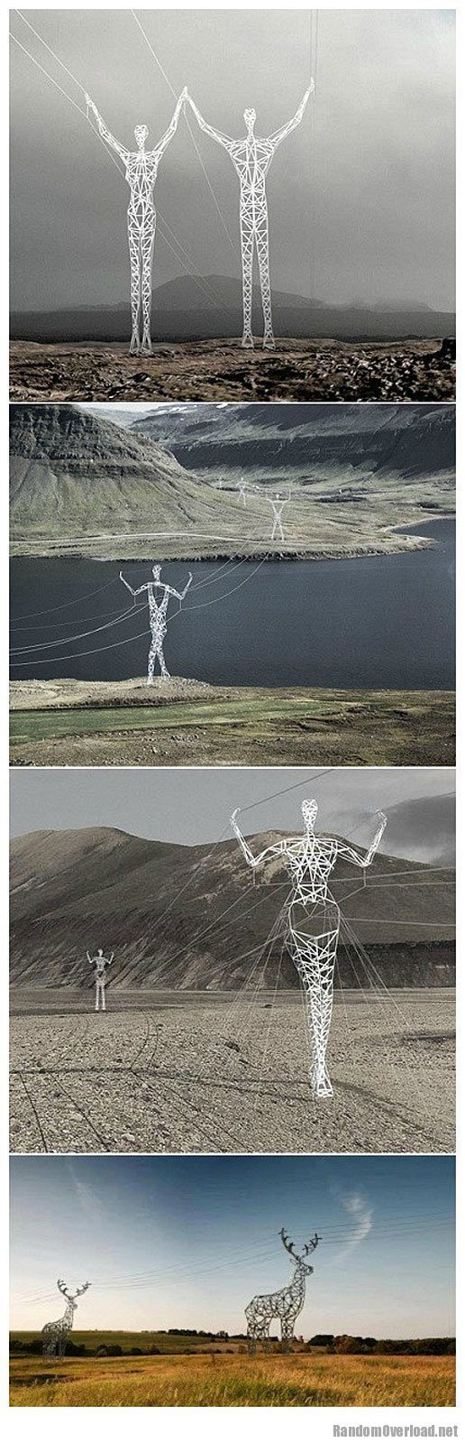 Iceland electric poles - RandomOverload
