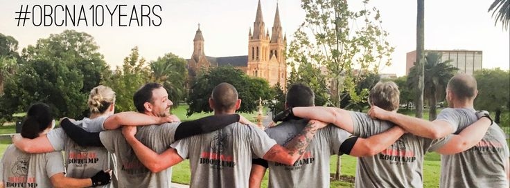 Vintage OBC logo on these 7 recruits during our 10th year running OBC North Adelaide next to the iconic Adelaide Oval.