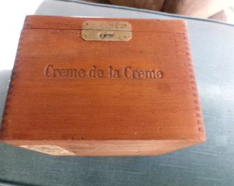 RUSTIC CIGAR BOX For Sale Cigar Box Man Cave Gift by ShabbyShores