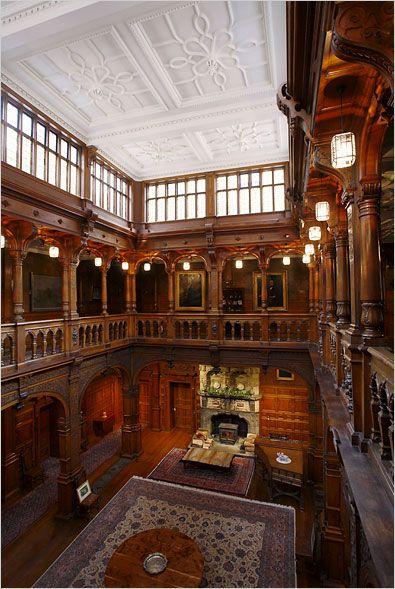 Stokesay Court was built by the rich Victorian era merchant, philanthropist, social conservative, Christian evangelist and church-builder John Derby Allcroft. He had had severalLondon churches built,...