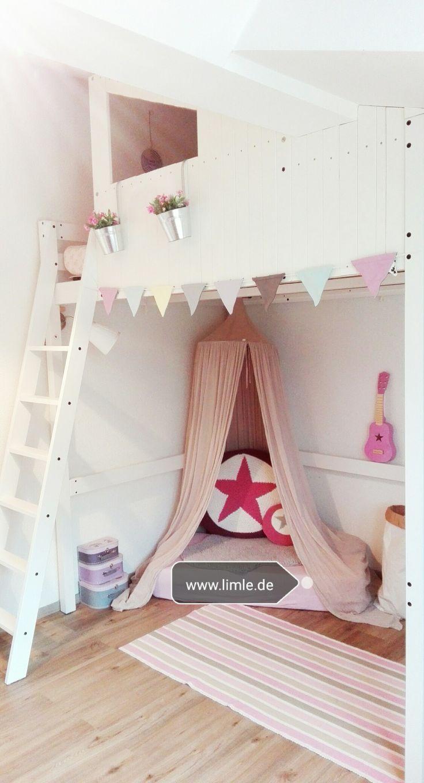 ikeahack diy kinderzimmer deko kinder m dchen hochbett kinderzimmer in 2019 kinder. Black Bedroom Furniture Sets. Home Design Ideas