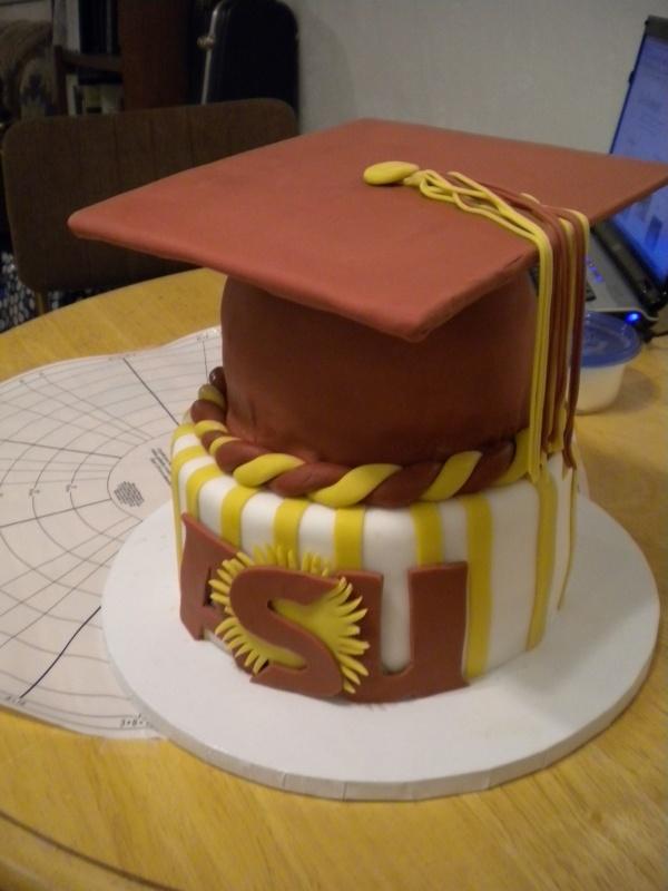 Asu Cake Sun Devil Pride College Graduation Cakes