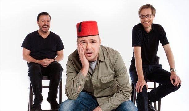 Karl Pilkington, Ricky Gervaise, Stephen Merchant