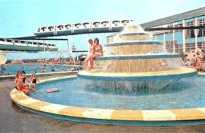 Butlins Minehead - Fountain and Monorail c1960s