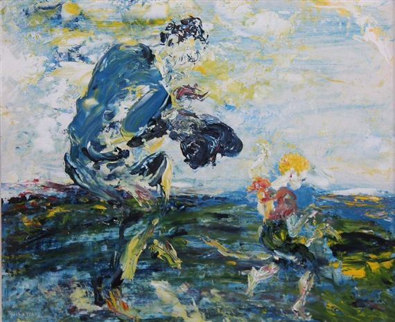 Artwork by Jack B. Yeats, Caballero, Made of Oil on board