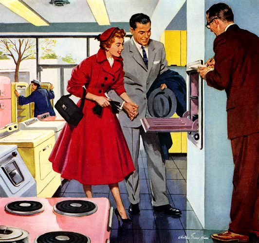 Our original Tampa showroom opened in 1954...is this what customers dressed like then to go shopping?