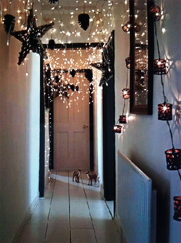 Fairy lights are a MUST at Christmas.