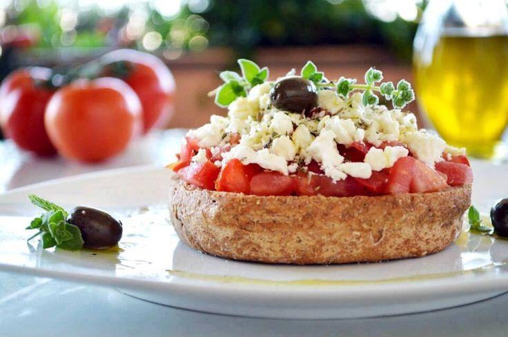 Greek salad on a tacos