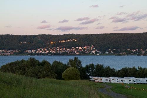 Huskvarna and Vättern, Småland, Sweden