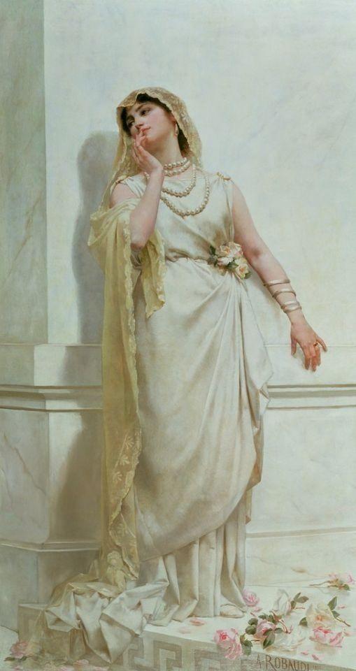 The Young Bride - Alcide Theophile Robaudi 1883 @@@...http://es.pinterest.com/solvilchez/a-r-t-~-b-r-i-d-a-l-day/