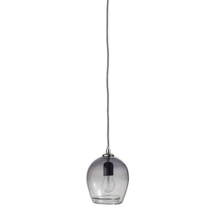 Lampa wisząca Bubble granatowa mała