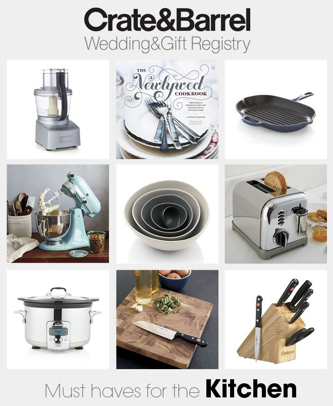 Must Have Wedding Picture List: Crate & Barrel Wedding Registry Must Haves!