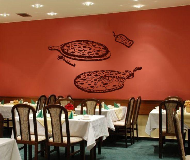 Best wall decals in pizzeria restaurant coffee house