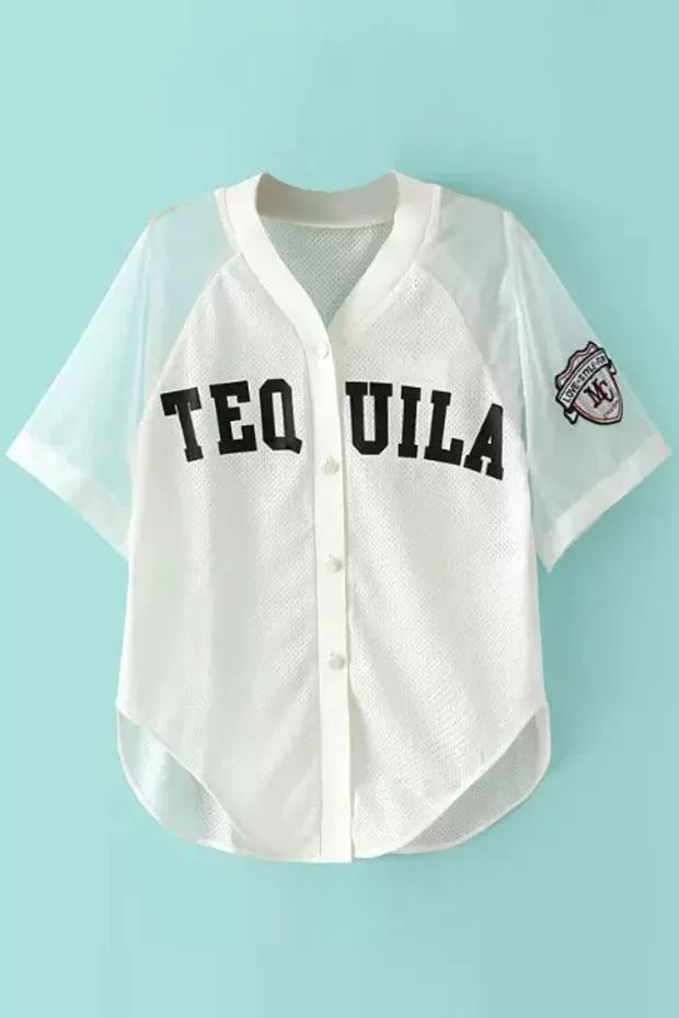 tequila baseball jersey tshirt