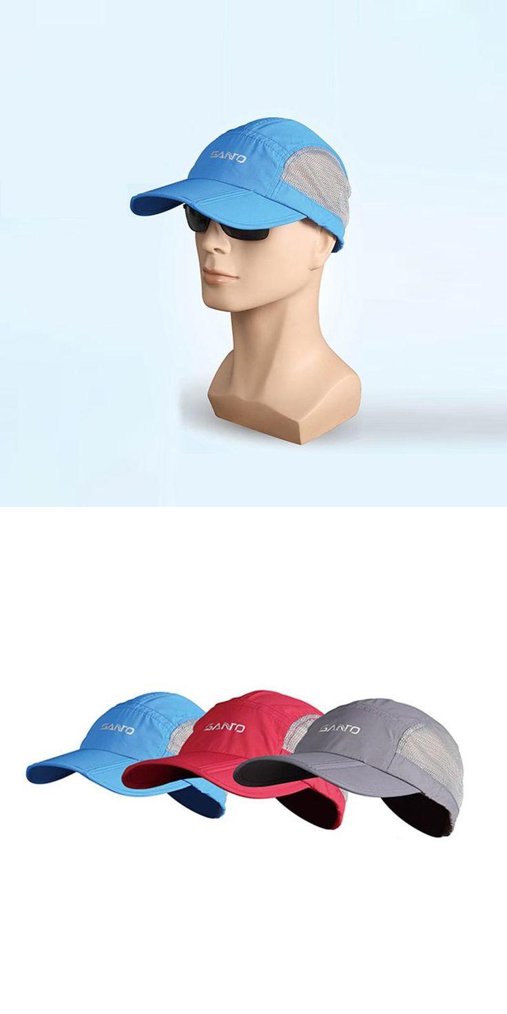 [Visit to Buy] SANTO Summer Outdoor Sun Hat Breathable Sunscreen UV Visor Peaked Cap Men and Women's Climbing Hats Foldable #Advertisement